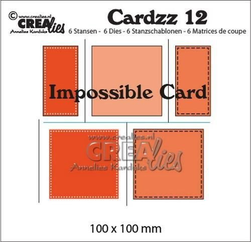 Crealies Cardzz no 12 impossible card CLCZ12 100x100mm