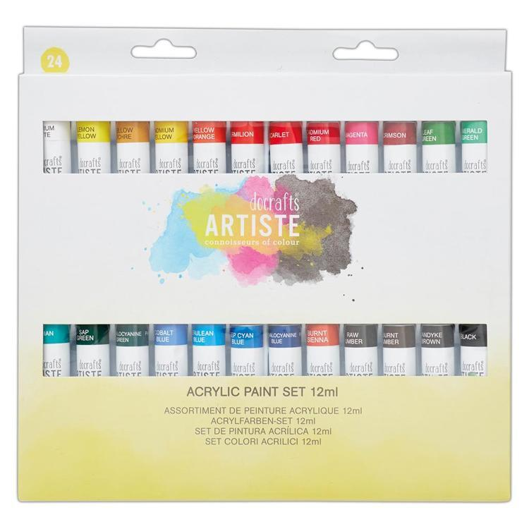 Acrylic Paint Set (24pk) - 12ml