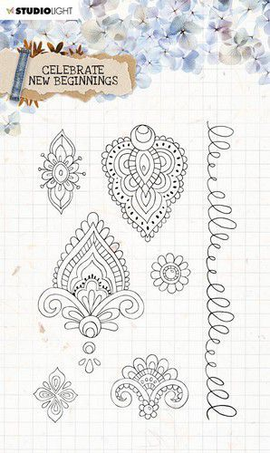Studio Light Clear Stamp Celebrate new beginnings nr.516 STAMPCNB516 A5 (01-21)