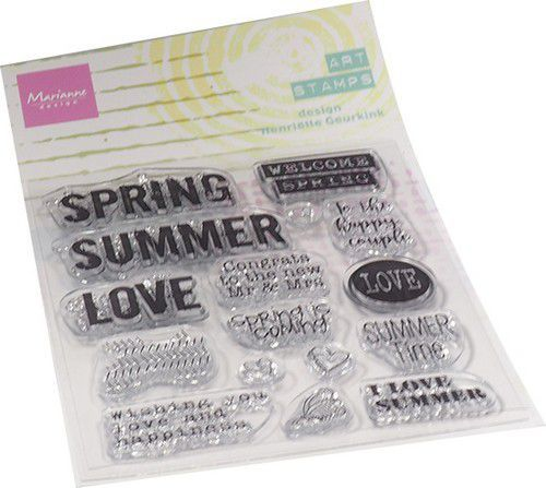 Marianne D Clear Stamps Art stamps - Summertime (ENG) MM1639 95x160mm (02-21)