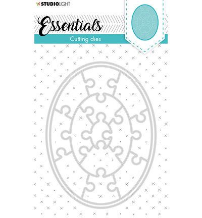 SL Cutting Die Small shape oval puzzle Essentials nr.386