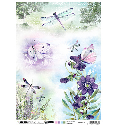 JMA Rice Paper Butterflies & dragonflies Time to Relax 2.0 nr.36