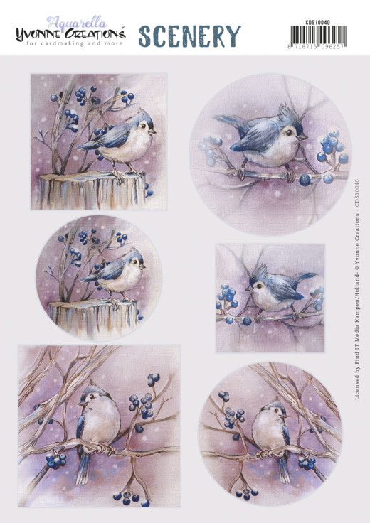 Scenery - Yvonne Creations - Aquarella - Birds