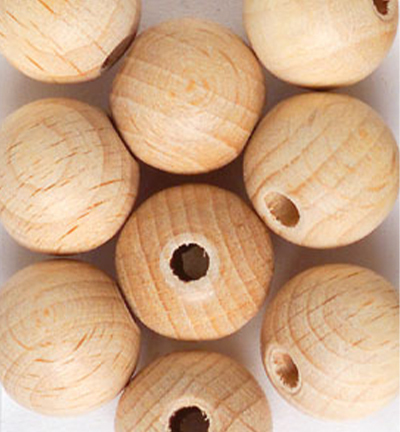 Wooden Beads Naturel, 12mm