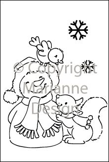 eline clearstamps snowman
