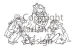 tc0816 clear stamps girls