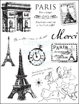 CS 0859 clear stamp paris