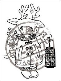 clear stamp christmas costume