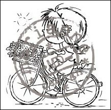 clear stamp bicycle don & daisy