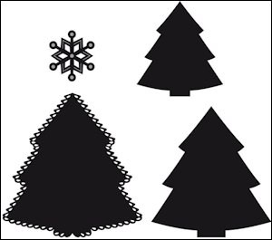 craftable stencil christmas tree