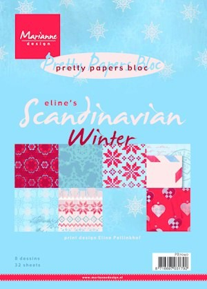 pretty paper bloc elines scandinavian winter