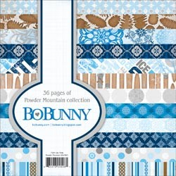 "Powder Mountain Paper Pad 6""X6"" 36 Sheets Bo Bunny"
