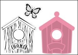 col1309 Collectables set Birdhouse home