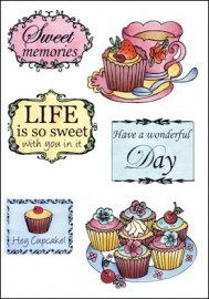Clear Stamp Tea and cupcakes