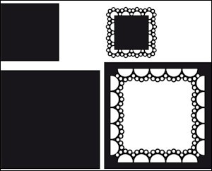 cr1240 Craftables stencil passepartout square