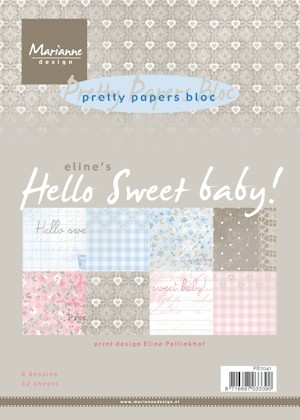pb7041 Pretty Papers bloc Hello Sweet Baby