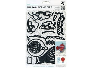 xcut build-a-scene dies vintage hot air balloon