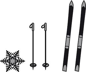 CR1252 Craftables stencil skis and snowflake