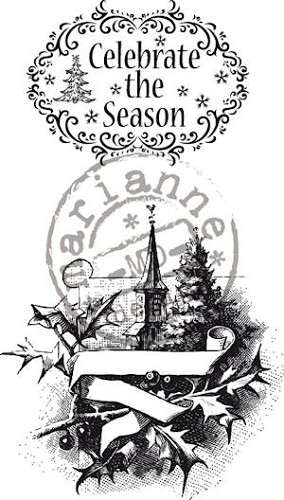 Clear stamp vintage celebrate the season