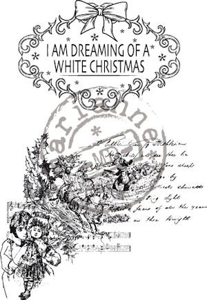Clear stamp vintage dreaming of a white xmas