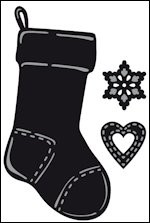 cr1256 Craftables stencil Tiny`s christmas socking