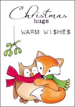 EC0148 Clear Stamp Eline`s christmas hugs