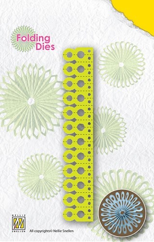 Nellie`s Rosette Folding Die round point