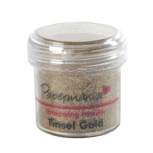 EMBOSSING POWDER 1 OZ TINSEL GOLD - 28 Gram