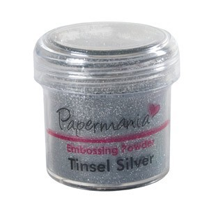 EMBOSSING POWDER 1 OZ TINSEL SILVER - 28 Gram
