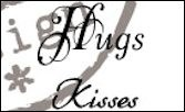 cs0888 Clear stamp hugs-kisses UK