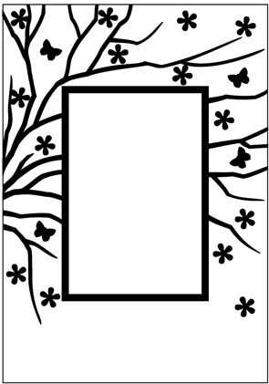 EFE008 Embossing Folder 106x150mm Spring is in the air rectangle