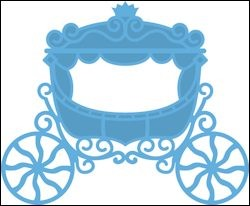 lr0302 Creatables stencil princess carriage