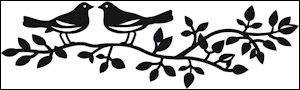 cr1264 Craftables stencil birds silhouette