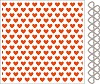 df3413 Marianne D Embossing folder + die Hearts