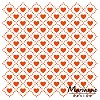 df3432 Marianne D Embossing folder Sweet hearts DF3432 14,5x19 cm