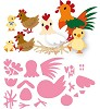 col1429 Marianne D collectable Eline`s  chicken family
