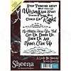 Sheena Douglass Rubber Stamp - A Little Bit Sketchy - Never Give Up