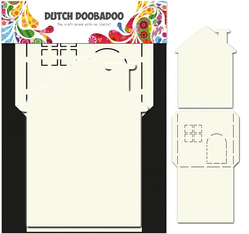 Dutch Doobadoo Dutch Card Art stencil Huis 2-delig A4