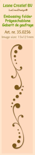 35.0256 Border embossing folder Swirls 15x121mm