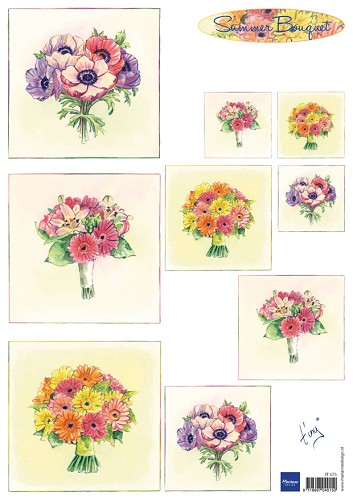 it575 Marianne D 3D Knipvellen Bouquet - Summer