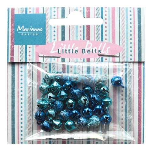 ju0940 Marianne D Decoration Mini bells - light blue & dark blue
