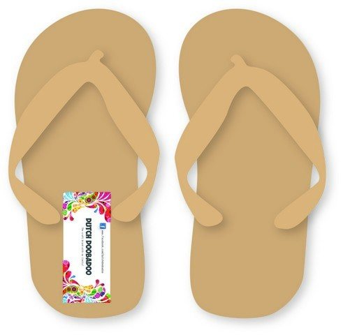 Dutch Doobadoo Dutch MDF art - paar slippers 3mm 20x9,1cm