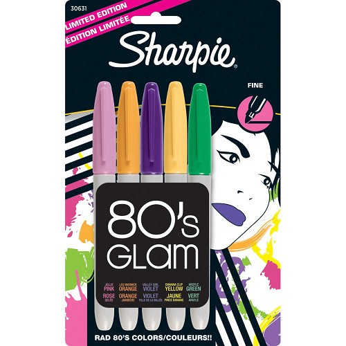 Sharpie Fine Point Limited Edition Permanent Markers 5/Pkg