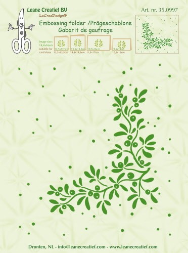 Embossing folder Mistletoe 14.4x16cm