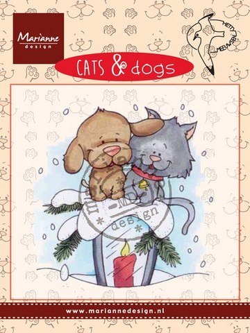 cd3503 Marianne D Clear stamp Cats & dogs - candle light