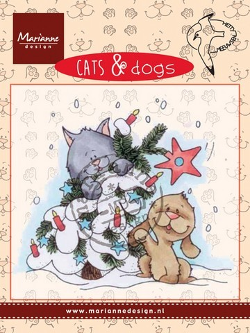 cd3504 Marianne D Clear stamp Cats & dogs - tree decorating