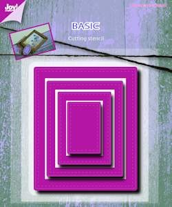 6002/0489 Joy! stencil basic Mery rectangle