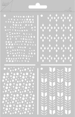 6002/0822 Embossing stencil poly-besa - ATC rondjes&vierkant