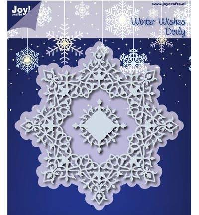 6002/0536  Cutting & Embossing Winter Wishes Doilie