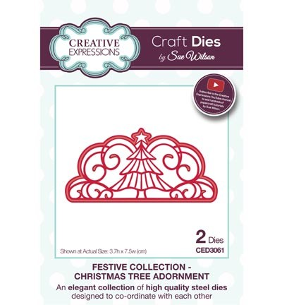 ced3061 Craft Dies Christmas Tree Adornment
